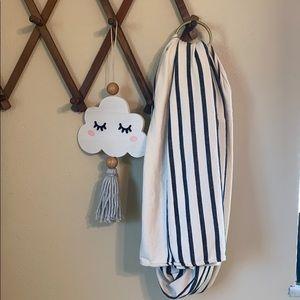 Sseko ring sling in woven stripe pattern